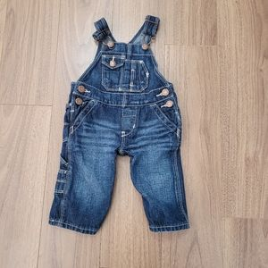 OshKosh baby blue jean overall size 3 Months